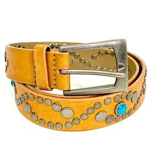 Steve Madden Southwestern turquoise leather belt M
